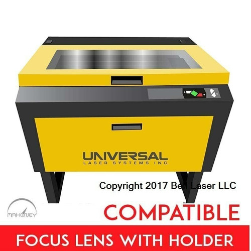 Universal Laser Systems laser engravers can utilize the better value offered by Mahoney compatible lenses in holders.