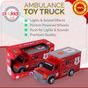 Playkidz Hatzolah Volunteer EMS Ambulance, Emergency Motorized Toy Truck for Kids. Strong Quality Features Lights, Sirens, and Much More!