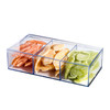 "Clear Acrylic Candy Gift box 3 Sectional Decorations Supplies 7.5""X3.75""X2"""