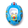 Aquablu Inflatable Race Car Cool Summertime Swim Seat & Float Toy for Pool Beach Lake Bay & More Exciting blue Racer Steering Wheel & Solid Bottom for Toddlers Ages 1-2 Years