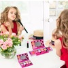 Playkidz: My First Princess Makeup Chest, Girl's All-In-One Deluxe Cosmetic and Real Makeup Palette with Mirror (Washable)