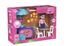 Playkidz Mini Doll Food Playset: Pretend Play Mini Doll with Super Durable Food Push Cart for Children's Doll house or just Fun Play.