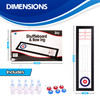Point Games Tabletop Mini Shuffleboard and Bowling Game Set, Super Durable Foldable Board Ideal for Travel, Great for Adults and Children Ages 6+