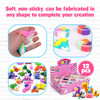 Playkidiz FunFluff Fluffy Magic Clay, Air Drying Sculpting Art Clay for Kids, Sensory and Educational Toy for Boys & Girls, Modeling and Molding Clay, Pack of 12, Ages 3 and up