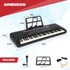 Kidstech 32 Inch, 61 Key Beginner and Practice Electronic Keyboard, Portable with Full Size Keys, Microphone, Note Stand and Cables Included, LCD Display, For Kids Ages 3+.