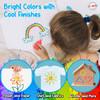 Playkidiz 3-D Art Puff Paint For Kids, 6 Pack Color Pack Squeeze Paint, Non Toxic Puff Paint Set, Washable Fabric Paint, Classic Colors, Ages 3+. (6 Pack)