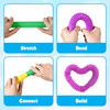 """Pop Tubes Sensory Toys, Fine Motor Skills Toddler Toys, Thick Fidget Sensory Toys for Kids and Adults, Learning Toys, 7.5"""" in Diameter, Stretches Up to 26"""" by Playkidz"""