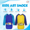 Playkidiz Art Kids Smock Paint Shirt, Set of 2 Preschool Artist Aprons, Kids Paint Smock Shirt for Kids, Painting Coat Ages 3+.