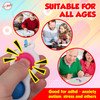 Playkidz Fidget Keychain, 24 Fidget Pack Fidget Sensory Toy for Kids and Adults, Stress Relieving Fun