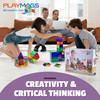 Playmags 150 Piece Set: Now with Stronger Magnets, Sturdy, Super Durable with Vivid Clear Color Tiles. 18 piece Clickins Accessories to Enhance your Creativity