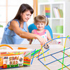 PlayBuild Straw Constructor STEM Building Toys, 800 Pcs + 16 Wheels, Colorful Interlocking Plastic Engineering Building and Construction Set. Fun, Educational, Safe for Kids- Develops Motor Skills