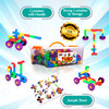 PlayBuild Tubular Spout Construction Building Blocks, Constructor Toy, Tubo Fun Educational Building Construction Toys with Wheels and Easy Storage Plastic Container.