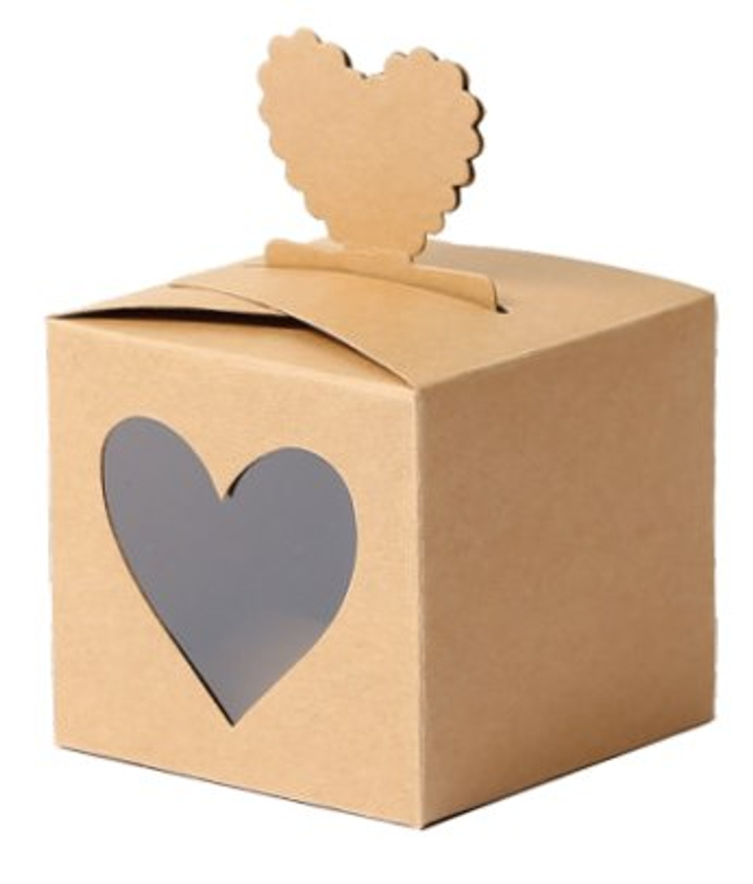 Wooden box with heart PU0059