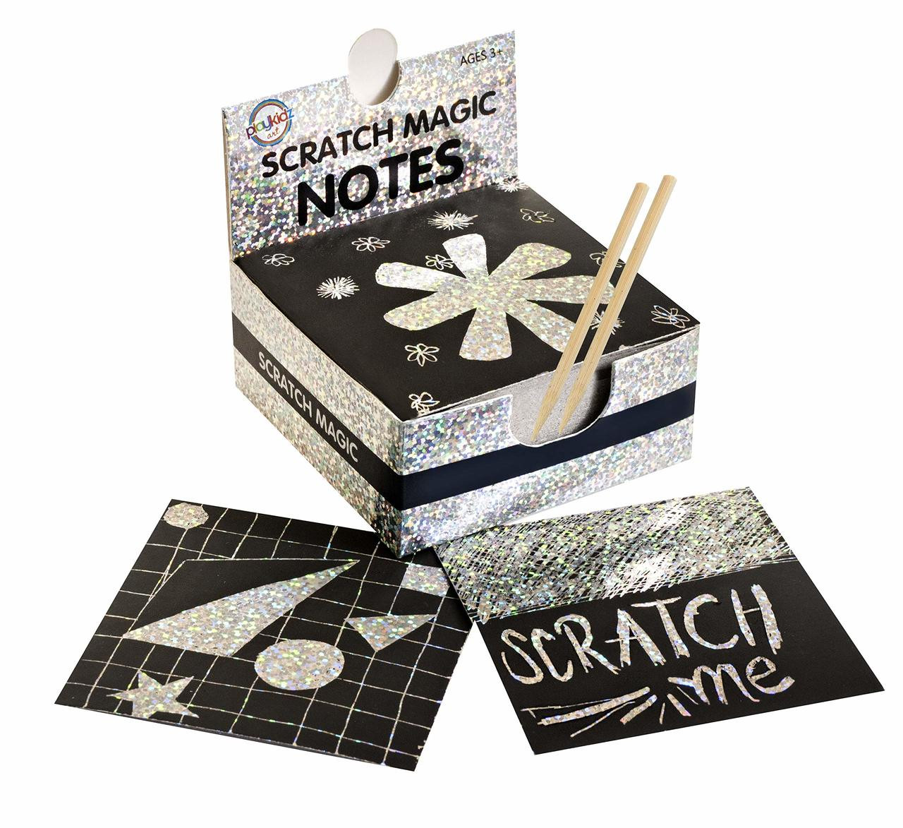 Gold Craftoy Scratch Art Notes Magic Scratch Note Off Paper Pads Cards Sheets for Kids Black Scratch Note Arts Crafts DIY Party Favor Supplies Kit Birthday Game Toy Gifts Box for Girls Boys