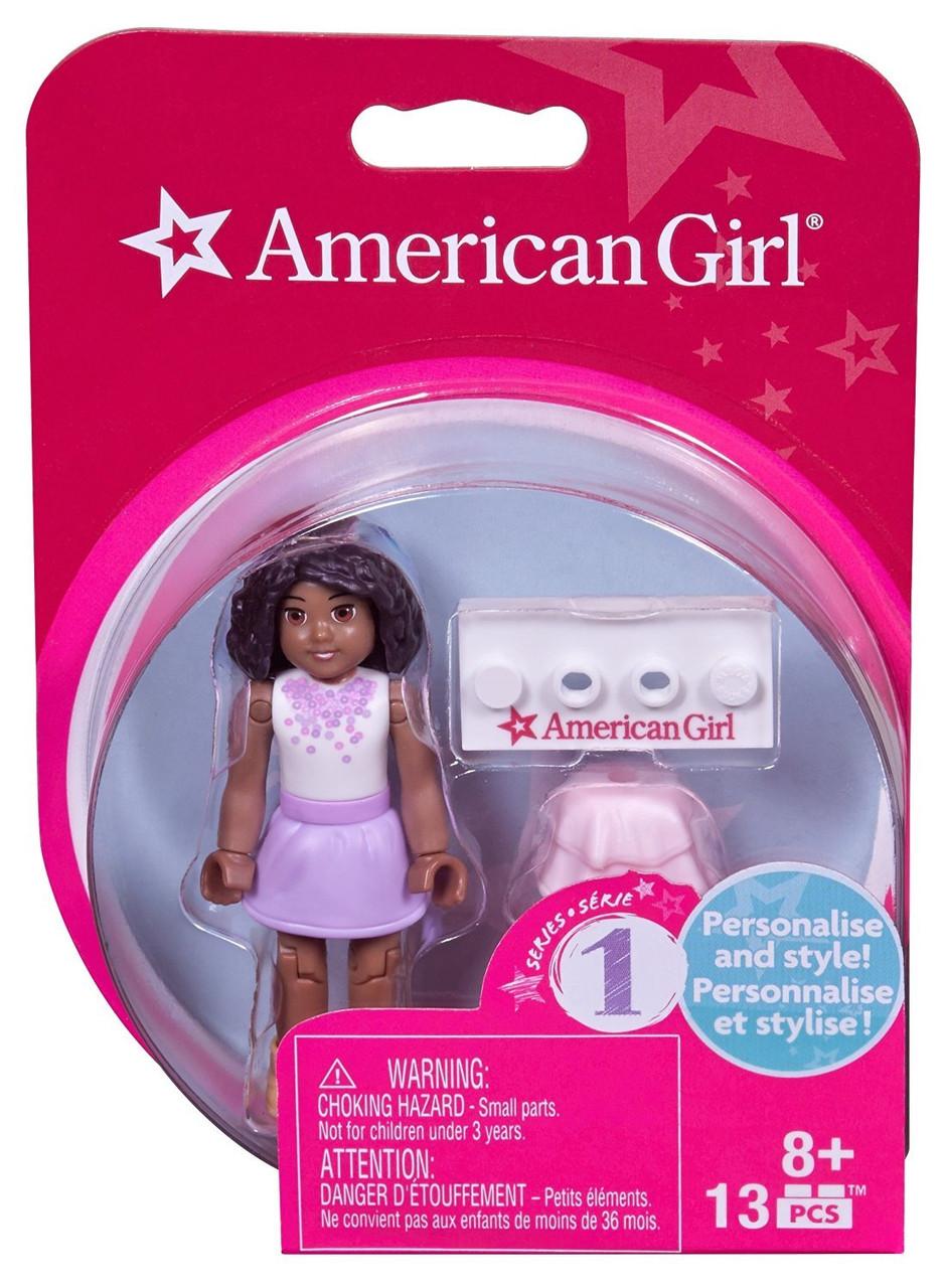 Mega Bloks Construx American Girl African American Doll Series 1 Minifigure Lot
