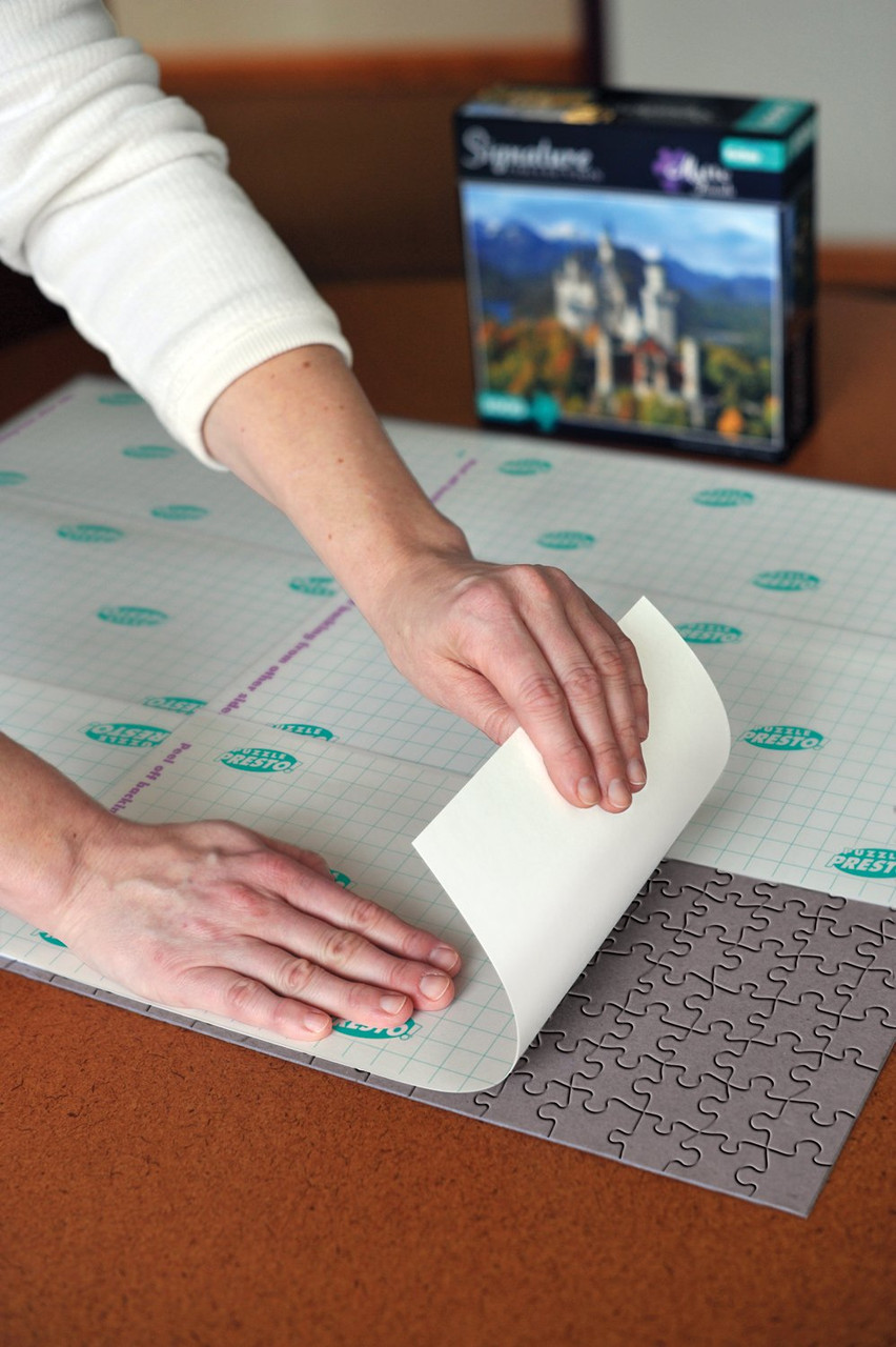 BULK PACK Puzzle Presto 12-PACK Peel /& Stick Puzzle Saver The Original Way to Preserve Your Finished Puzzle!