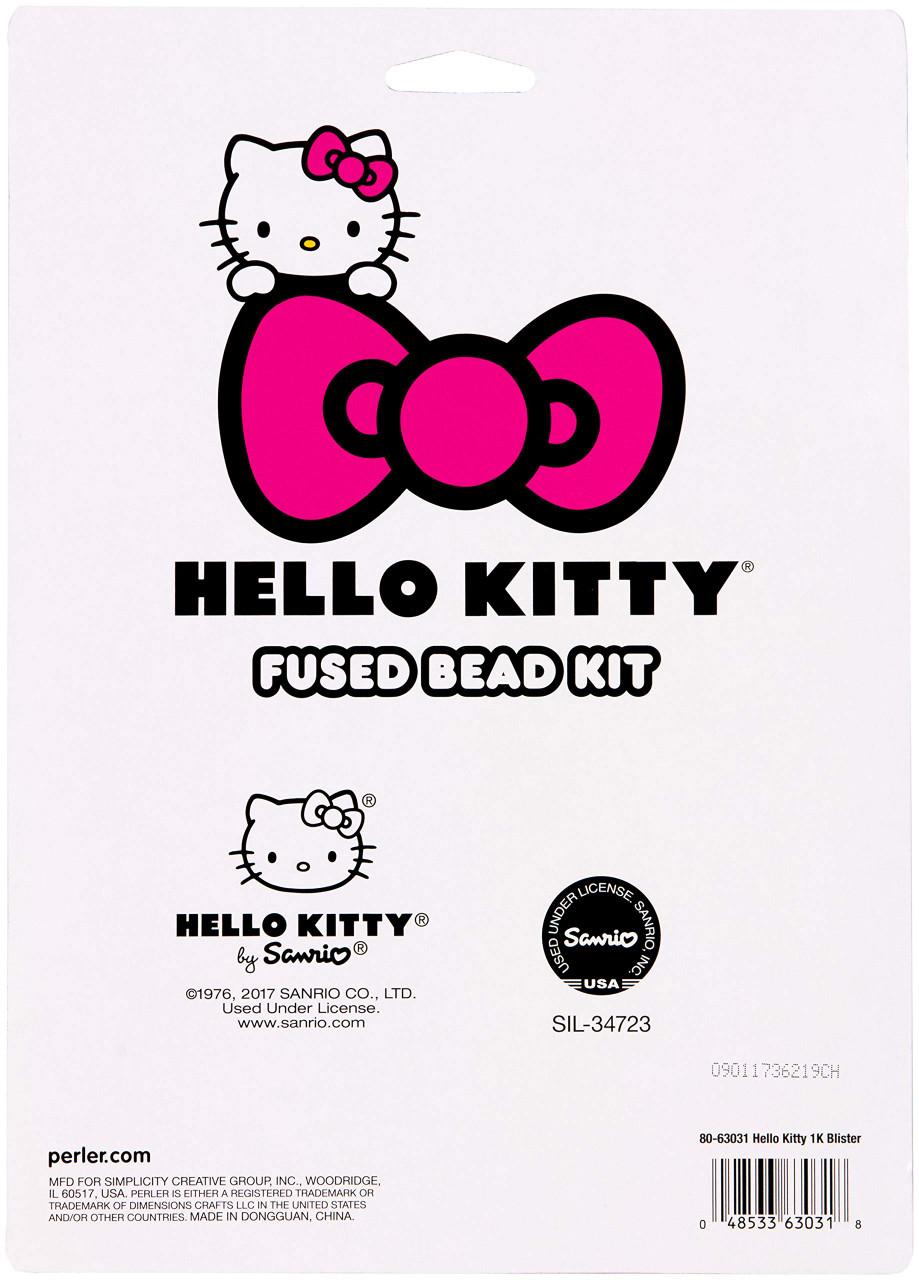 Perler Beads Hello Kitty Face Kit 4.5/'/'L x 5/'/'W x 0.6/'/'H