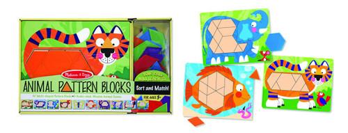 Melissa & Doug Animal Pattern Blocks
