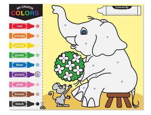Melissa & Doug Colour by Dots - 40 Pages, Includes Colour Key for Beginners