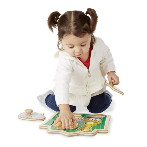 Melissa & Doug Jungle Friends Large Peg Puzzle