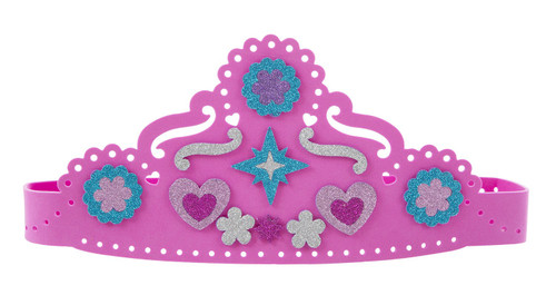 Melissa & Doug Mess-Free Glitter Foam Tiara and Wand Craft Kit With Sparkling Stickers (Great Gift for Girls and Boys - Best for 5, 6, 7, 8, 9 Year Olds and Up)