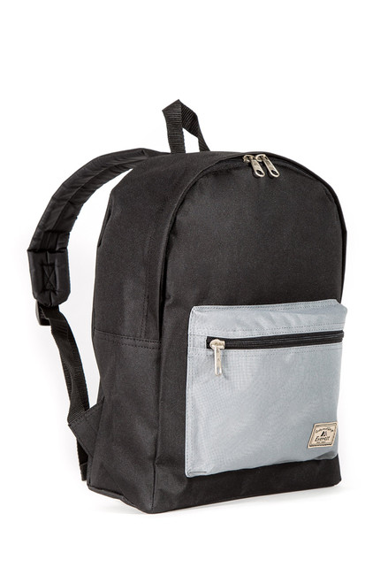 Everest Basic Color Block Backpack, Black/Gray, One Size