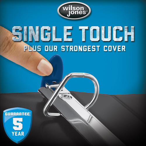 Wilson Jones Ultra Duty D-Ring Binder with Extra Durable Hinge, 1-Inch, Eggplant (W876-14-519)