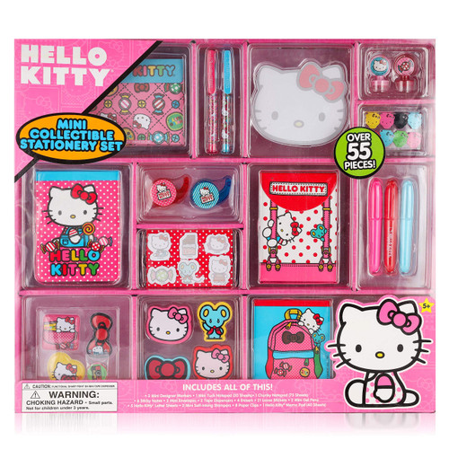 PlaykidIz Mini Collectible Stationary Set Fun Assortment of Over 55 Pieces for Every Girl