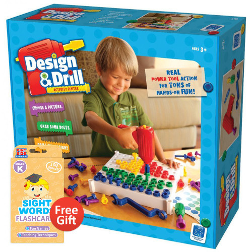 Design and Drill Activity Center with Your Choice of Educational Flashcards (Kindergarten)