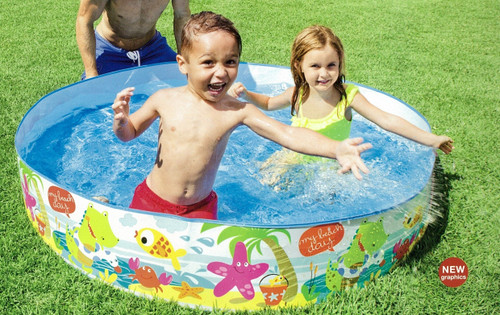 INTEX Beach Days Snapset Instant Kids Childrens Swimming Pool | 56451EP