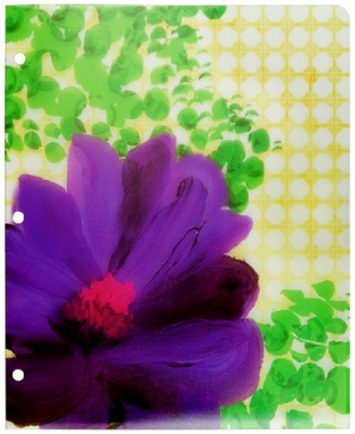 Top Flight 2be 2-Pocket Poly Portfolio, 3-Hole Punched, 11.75 x 9.5 Inches, 1 Portfolio, Cover Color May Vary (43072)