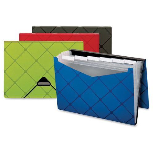 Globe-Weis Expandable Poly Pocket File, 7-Pocket, Letter, Assorted (GLW55633)