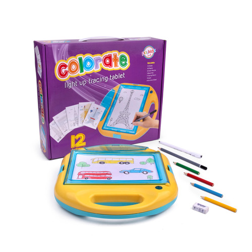 Playkidz Colorate Light Up Tracing Tablet, Creative Coloring Pad for Boys and Girls, Fun Birthday Gift for Kids Of All Ages