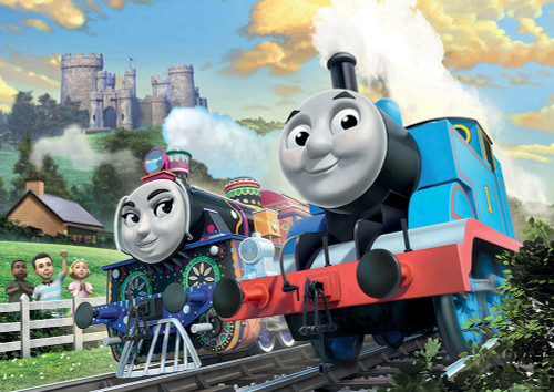 Ravensburger Thomas & Friends: Thomas & Ashima in Train Shaped Box Floor Puzzle 24 Piece Jigsaw Puzzle for Kids – Every Piece is Unique, Pieces Fit Together Perfectly