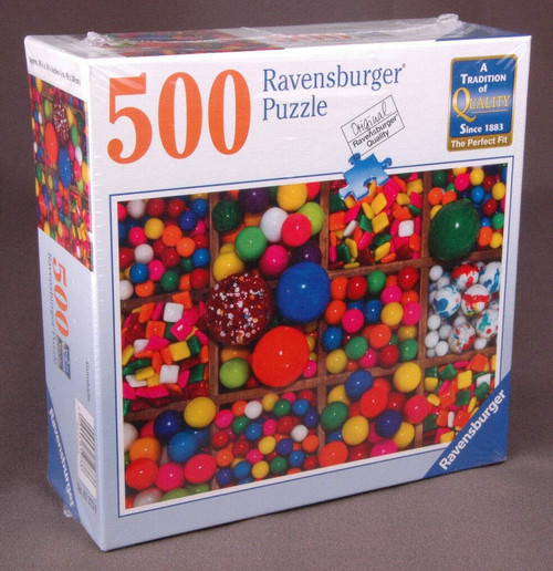 Ravensburger 812738 Colorful Gumballs 500 Piece Puzzle for Adults - Every Piece is Unique, Softclick Technology Means Pieces Fit Together Perfectly