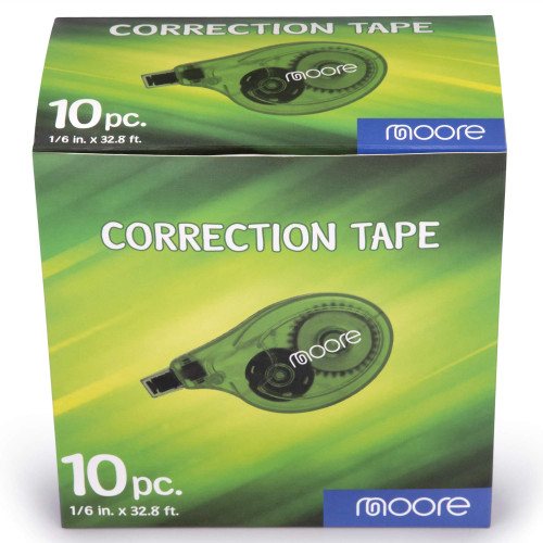Moore Correction Tape, Quick and Easy Application, 10 Count, Multi-Purpose For School, Office & Home