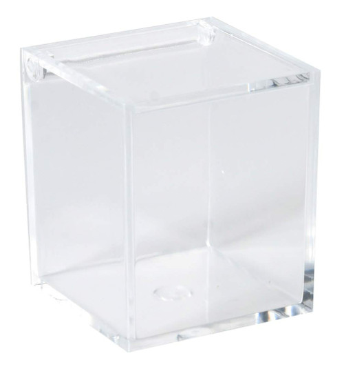 Lucite Plastic Storage Organizer Box - Best for Organizing Beauty Products and Accessories  2.36''x2.36''x2.76'' (6 Pack)