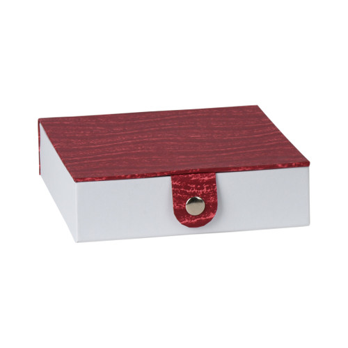 "Burgandy Gift box with Snap Closure 5.9""x5.9""x1.8""(3 pack)"