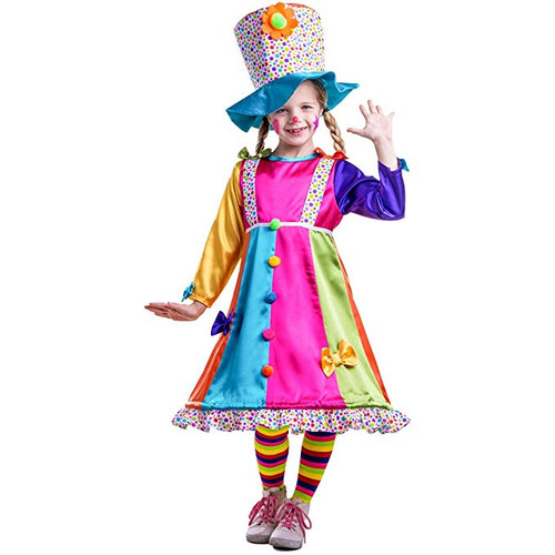 Girls Polka Dots Clown Costume By Dress Up America