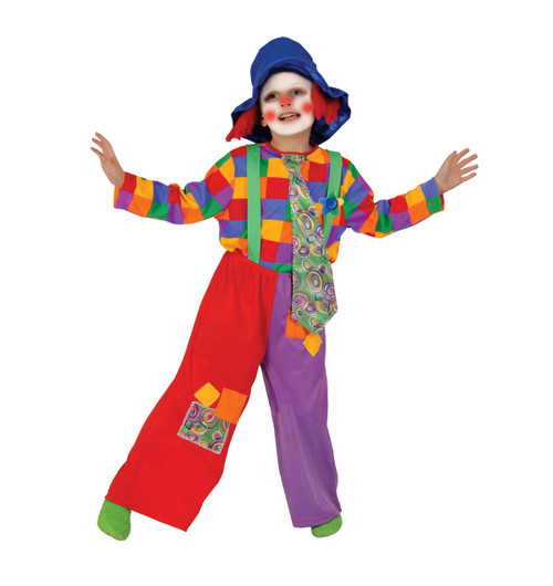 Colorful Boy's Clown Costume By Dress Up America