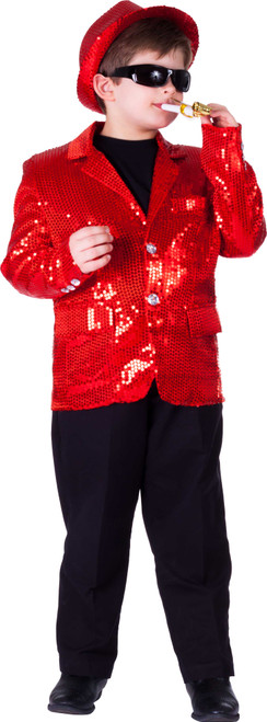 Fully lined Red Sequin Jacket For Kids