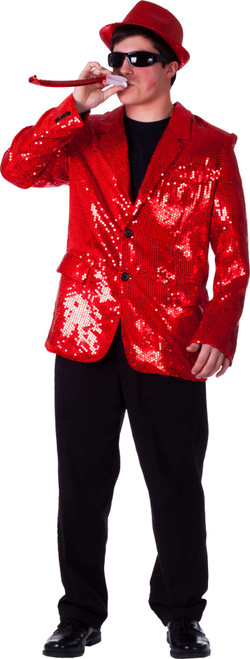 Fully lined Red Sequin Jacket for Adult By Dress Up America
