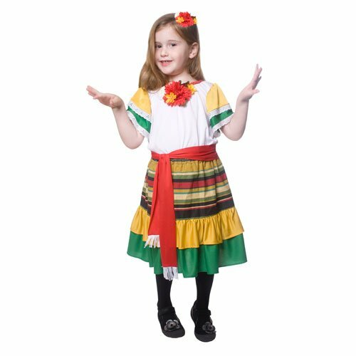 Little Girl Mexican Dancer Costume By Dress Up America