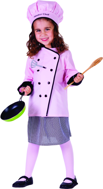 Little Pretty Master Girl Chef Costume by Dress Up America