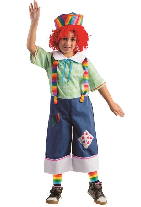 Girl Rainbow Rag Doll Costume By Dress Up America