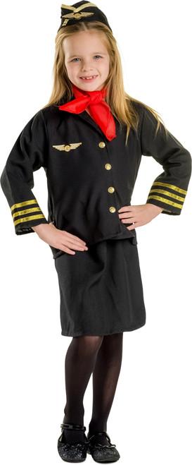 Girl Flight Attendant Costume Set By Dress Up America