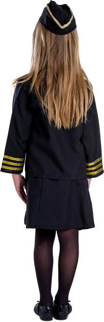 Girl Flight Attendant Costume Set By Dress Up America