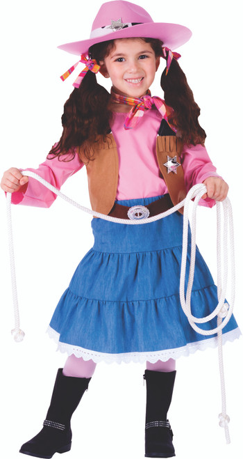 Attractive Junior Cowgirl Costume by Dress Up America