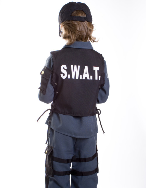 Kids Deluxe S.W.A.T. Officer Costume By Dress Up America