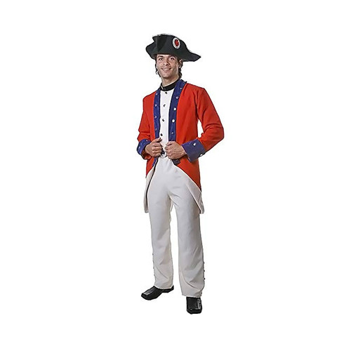 Adult Colonial Soldier Costume By Dress Up America - Size XX-Large